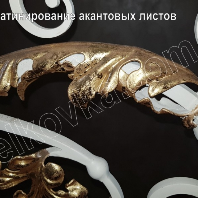 Gold of acanthus leaves