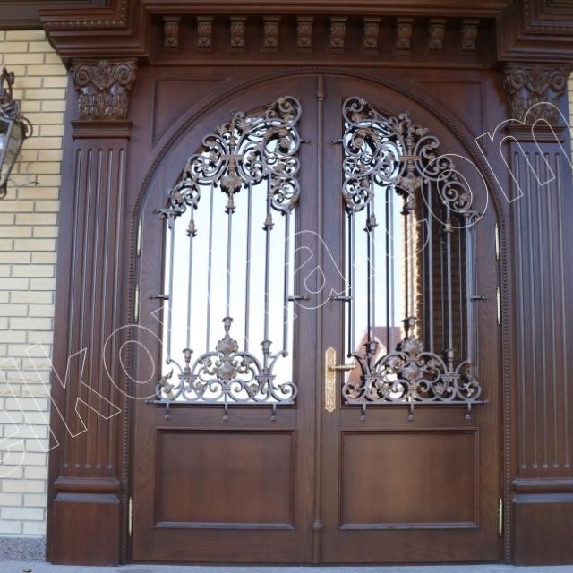Wrought iron door panel