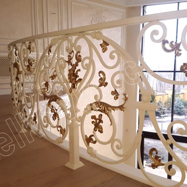 Forged balcony in the interior