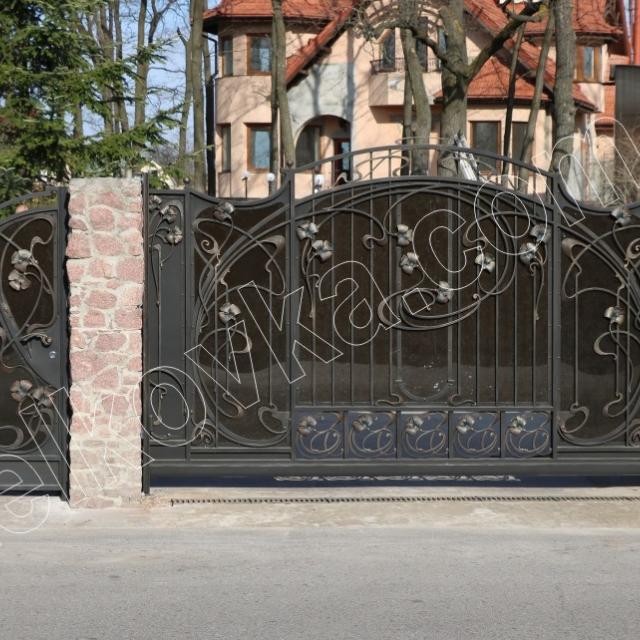 Modern wrought iron gates