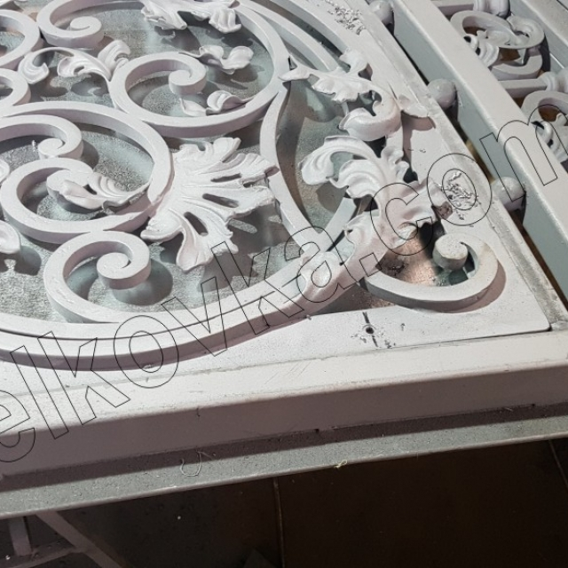Galvanized forged gates
