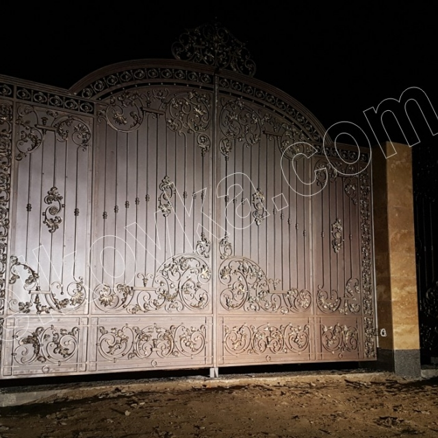 Installation of wrought iron gates
