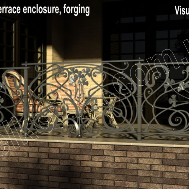 Visualization of a forged fence