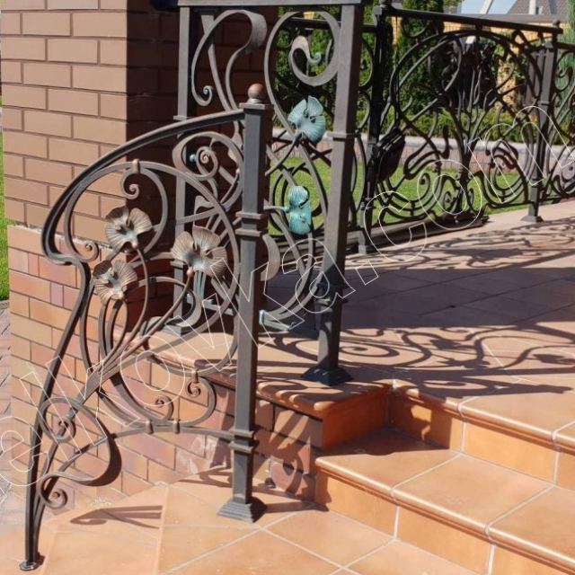 Wrought iron staircase terrace