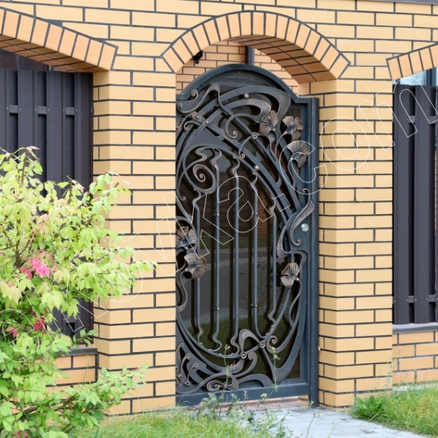Beautiful wrought-iron gate with polycarbonate