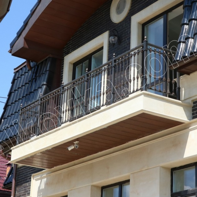 Metal balcony with good painting