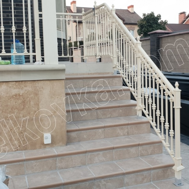 Outdoor staircase on the terrace