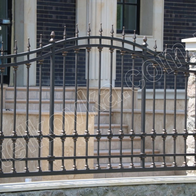 Transparent wrought iron fence