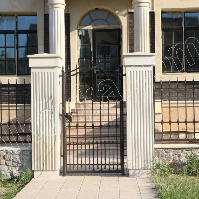 Forged transparent wicket gate and fencing