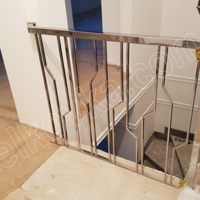 Staircase made of stainless steel