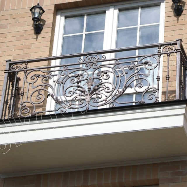 Forged French balcony