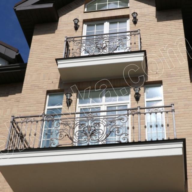 Main facade balconies