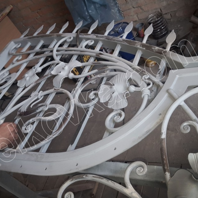 Forged gate decoration