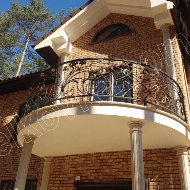 Round wrought iron balcony