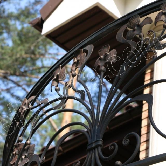 Light wrought iron balcony