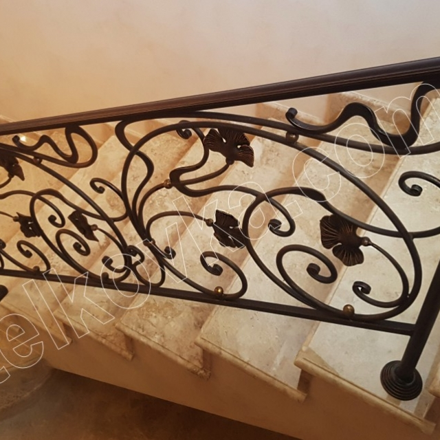 Light forged railings in the house