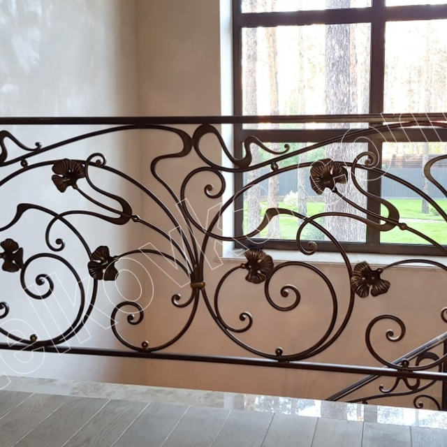 Wrought iron staircase in the house