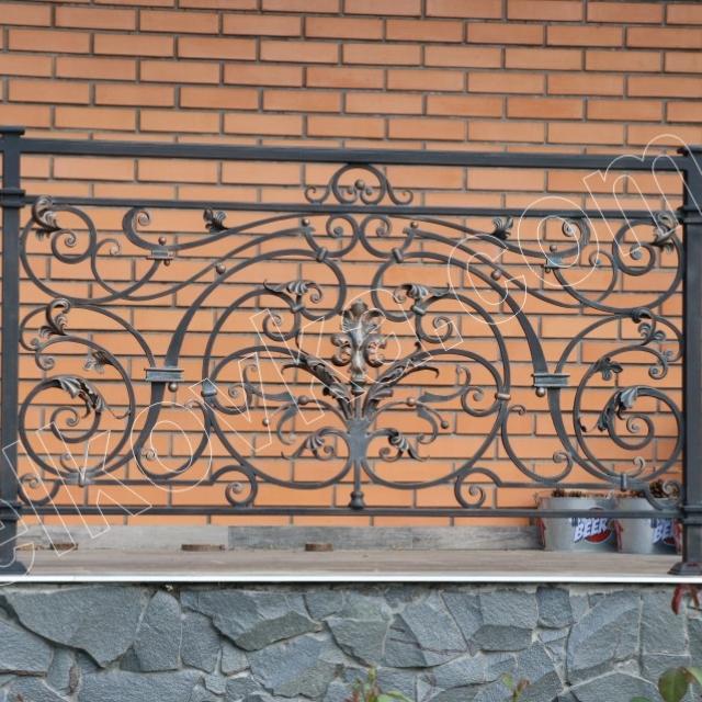 Balcony. High-quality forging
