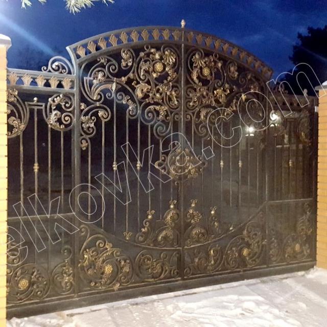 Wrought iron sliding gates