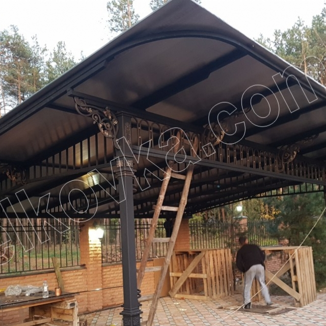 Carport with forging elements