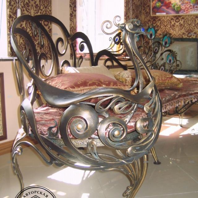 Forged sofa Peacock