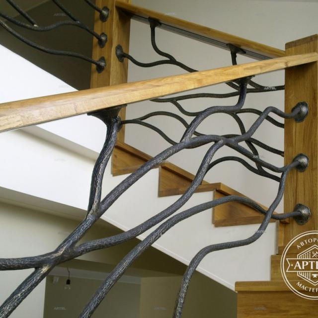 Forged stair railings