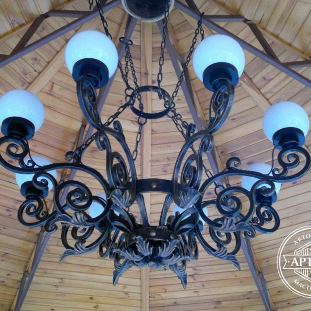 Wrought iron chandelier