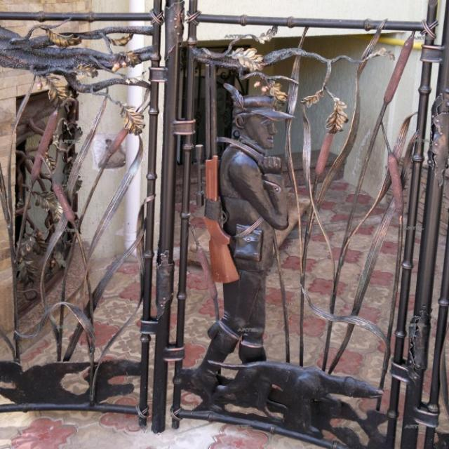 Wrought iron aviary