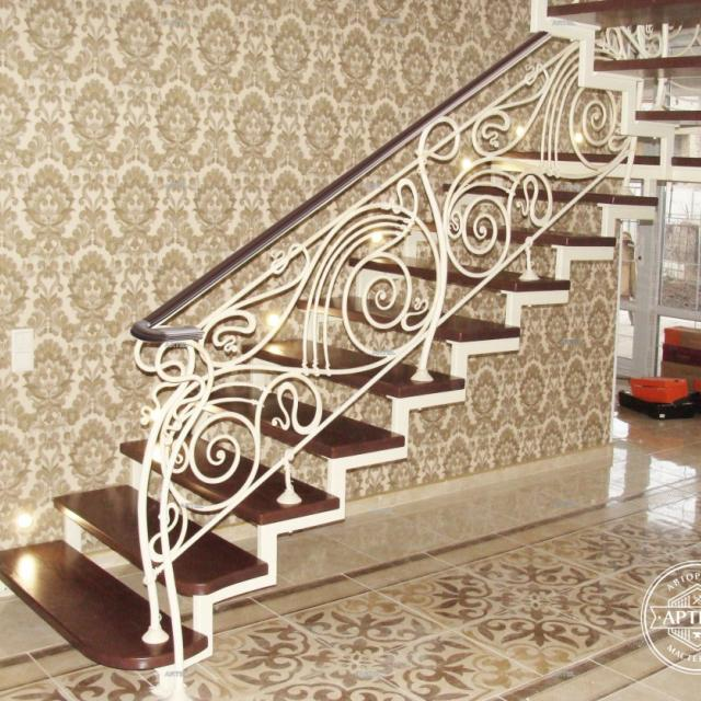 Transparent wrought iron staircase