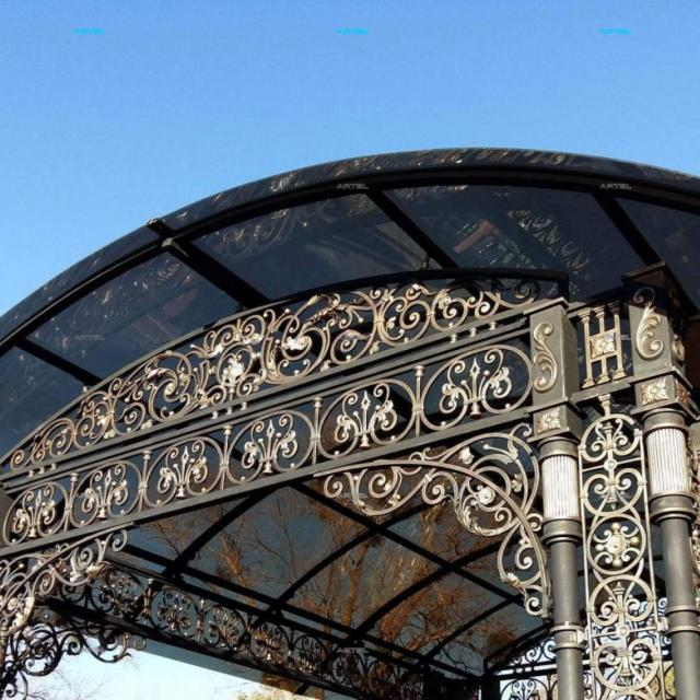 Forged canopy with polycarbonate