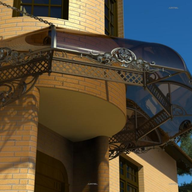 Canopy with clear polycarbonate