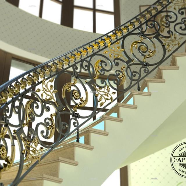 Forged spiral staircase