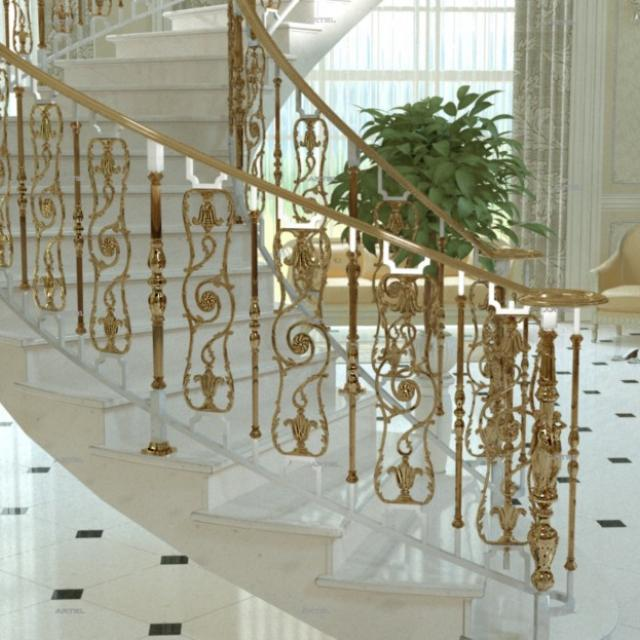 Staircase made of cast elements Grand Forget