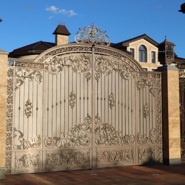 Forged swing gates Osokorki Kiev region