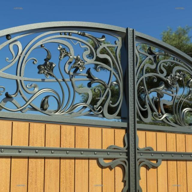 Forged gates with good wood