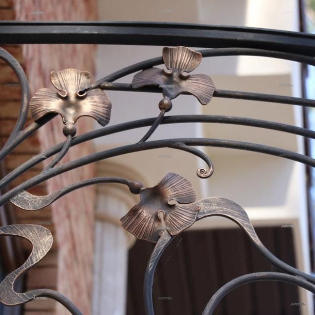 Round balcony, detail