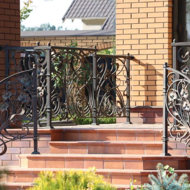Wrought iron fence on the terrace