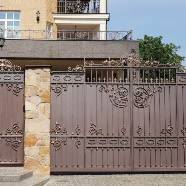 Wrought iron gates and wickets