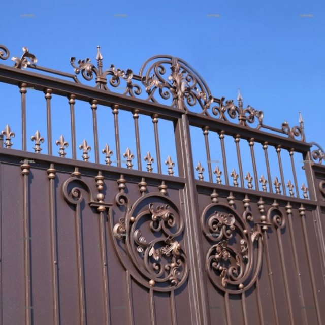 Beautiful wrought iron gates