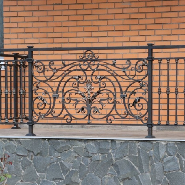Wrought iron fence at the entrance