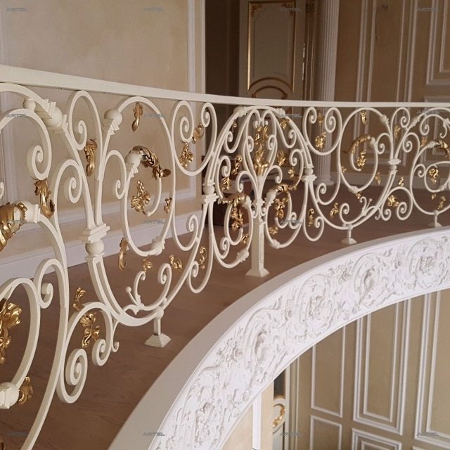 Forged balcony in the house