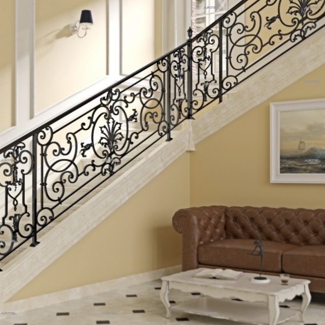 Classic wrought iron staircase
