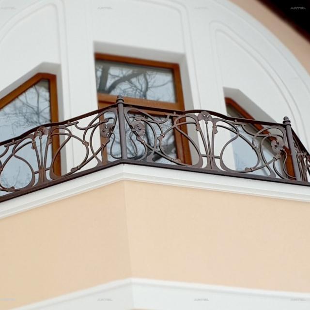 Modern wrought iron balcony