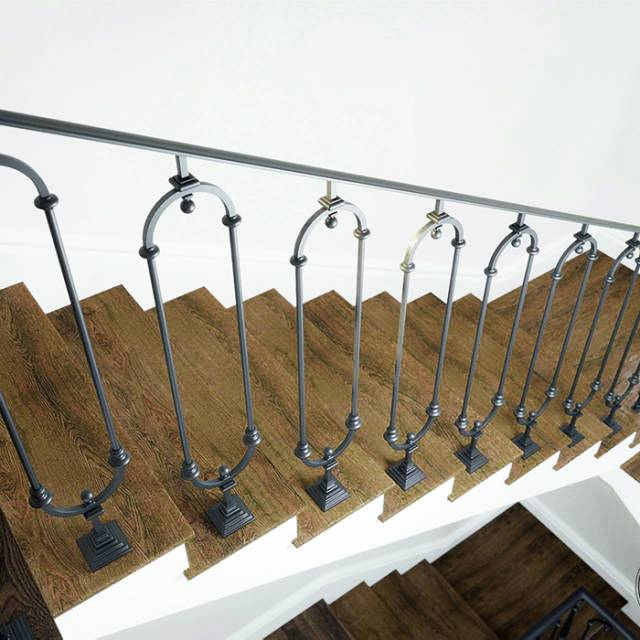 Modern staircase in the house