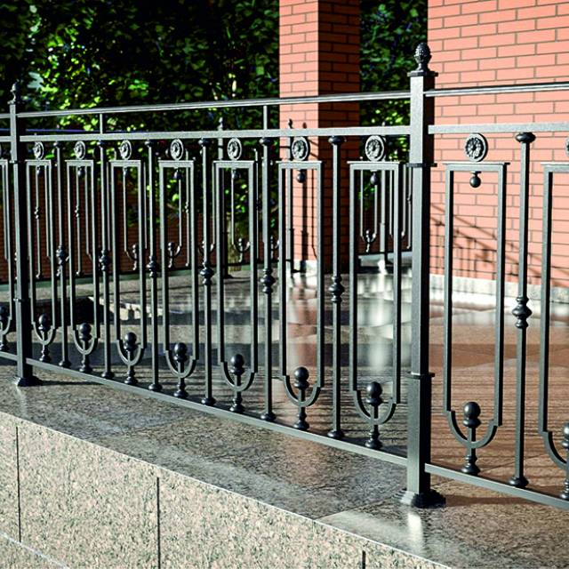 Metal fence of the terrace