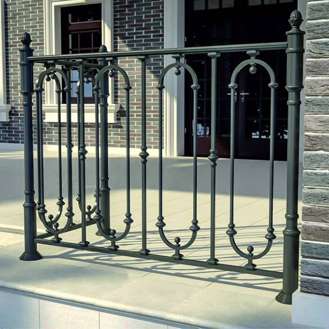Modern railings on the terrace