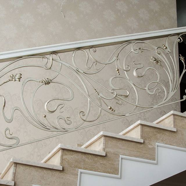 Forging on a marble staircase