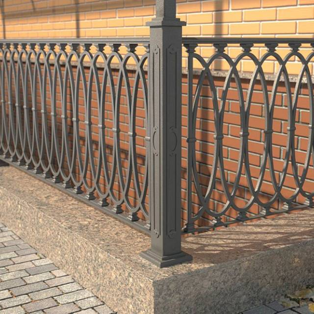 Metal railings for the site