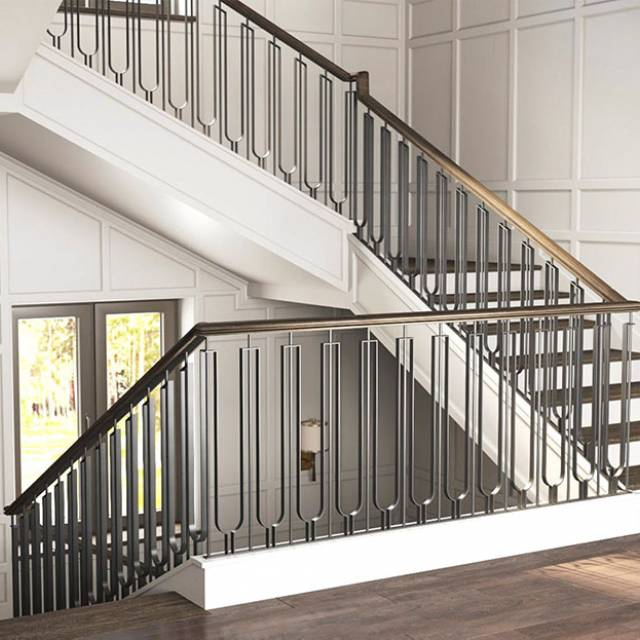 Stylish staircase in a modern house