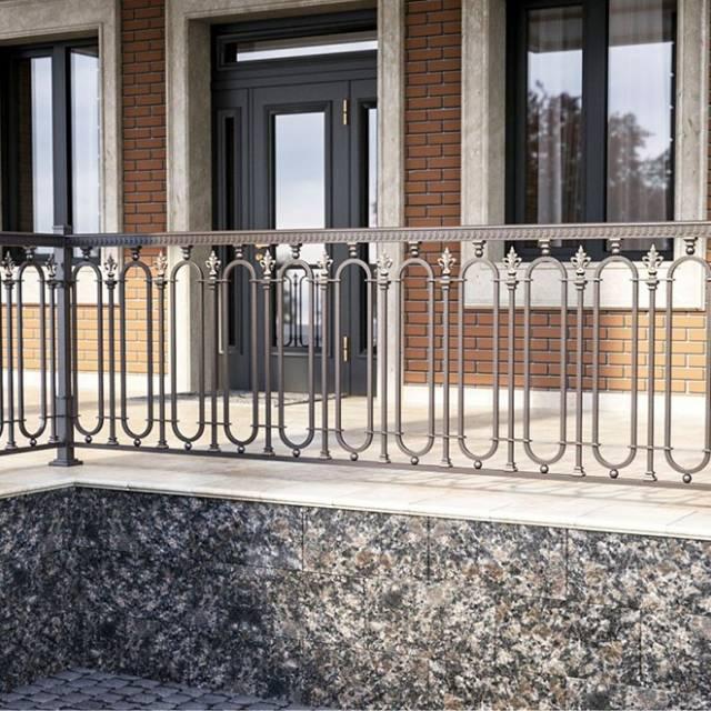 Metal terrace railing